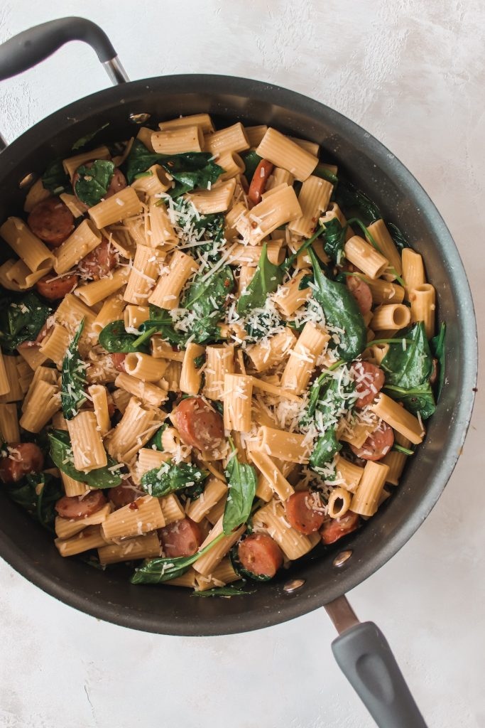 Sweet and Spicy Lemon Spinach Pasta